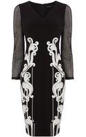 Karen Millen Signature Artwork Dress - Lyst
