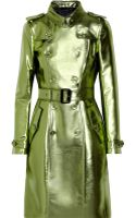 Burberry Prorsum Metallic Gabardine Trench Coat - Lyst