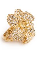 Alexander McQueen Swarovski Crystal Flower Ring - Lyst