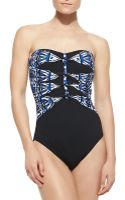 Gottex Anguilla Bandeau Onepiece Swimsuit - Lyst