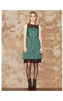 San & Soni Fit Flare Leopard Print Dress - Lyst