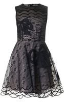 RED Valentino Bowembroidered Lace Dress - Lyst