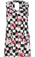 River Island White Chelsea Girl Floral Check Shift Dress - Lyst