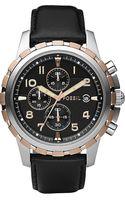Fossil Dean Stainless Steel Watch Black - Lyst