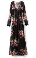 Twelfth Street Cynthia Vincent Pleated Bodice Maxi Dress - Lyst