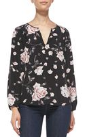 Joie Odelette Floral-print Silk Blouse - Lyst