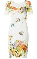 Dolce & Gabbana Floralprint Silk Charmeuse Dress - Lyst