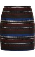Suno Woven Striped Mini Skirt - Lyst