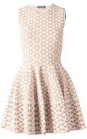 Alexander McQueen Embossed Flower Jacquard Dress - Lyst