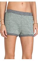 T By Alexander Wang Rainbow French Terry Shorts in Gray - Lyst