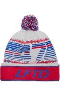 LRG Striped Pom Beanie - Lyst