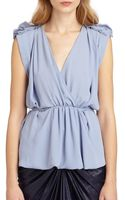 See By Chloé Sleeveless Tiewaist Blouse - Lyst