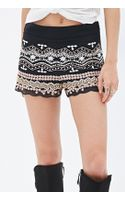 Forever 21 Sequin  Bead Embroidery Shorts - Lyst