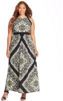 Inc International Concepts Plus Size Printed Halter Maxi Dress - Lyst