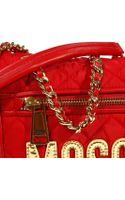 Moschino Handbag Shoulder with Logo and Chain - Lyst