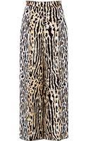 Valentino Animal Print Wide Leg Pants - Lyst