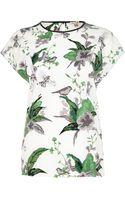 River Island White Floral Print Tshirt - Lyst