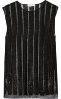 Balmain Sequin-embellished Tulle Top - Lyst