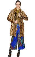 Etro Leopard Printed Ponyskin Coat - Lyst