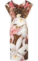 Vivienne Westwood Red Label Multicoloured Cap Sleeve Floral Dress - Lyst