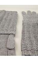Moncler Chunky Knit Long Gloves - Lyst