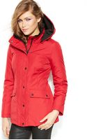 Jessica Simpson Hooded All Weather Jacket - Lyst