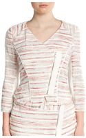 W118 By Walter Baker Bambi Striped Textured Jacket - Lyst