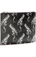 Saint Laurent Printed Leather Clutch - Lyst