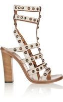 Isabel Marant Lucie Studded Leather Sandals - Lyst