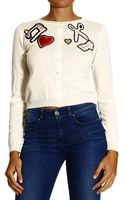 Moschino Cheap & Chic Sweater Cardigan with Applications - Lyst