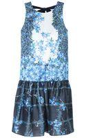Tibi Sidewalk Floral Drop Waist Dress - Lyst