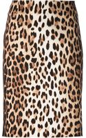 Moschino Cheap & Chic Leopard Print Pencil Skirt - Lyst