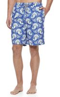 Peter Millar Paisleyprint Swim Trunks Navy - Lyst