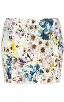 River Island White Floral Print Mini Skirt - Lyst