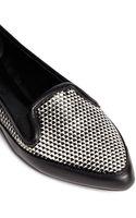 Proenza Schouler Geometric Effect Leather Slipons - Lyst