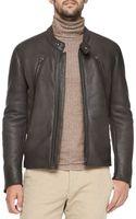 Maison Martin Margiela Shearlinglined Leather Moto Jacket - Lyst