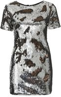 Topshop Tall Two-tone Sequin Dress - Lyst