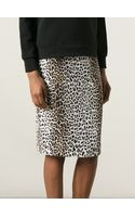 Rika Leopard Print Pencil Skirt - Lyst