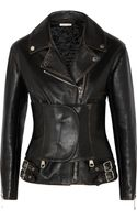 Christopher Kane Belted Leather Jacket - Lyst