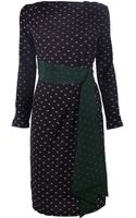 Band Of Outsiders Long Sleeve Dress with Sash - Lyst