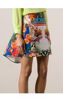 Pinko Floral Printed Short Skirt - Lyst