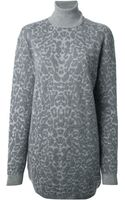 McQ by Alexander McQueen Leopard Print Sweater Dress - Lyst