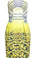 Mary Katrantzou Strapless Puff Dress Cupolla - Lyst