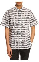 Kenzo Square Waves Patterned Shortsleeved Shirt - Lyst
