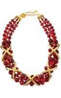 Jose & Maria Barrera Burgundy Dyed Jade Necklace - Lyst