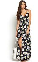 Glamorous Side Split Printed Maxi Dress - Lyst