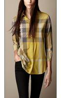 Burberry Check Cotton Shirt - Lyst