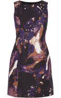 Karen Millen Marble Print Dress - Lyst