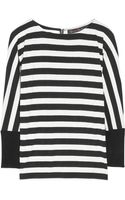 Alice + Olivia Striped Stretchjersey Top - Lyst