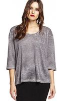 Michael Stars Elbow Sleeve Shift Linen Tee - Lyst